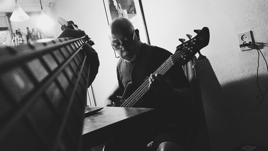 Jamsessions with dad Bass Bass Guitar Music Guitar Photography Black & White Black And White Musician Fender Yamaha