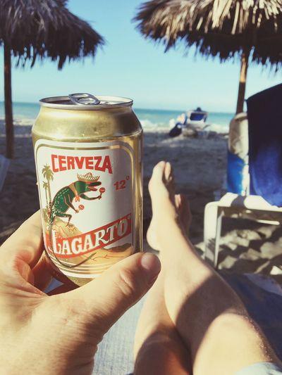 Beer, Cuba style Lagarto Beer Cuba Beach Lifestyles Sea First Eyeem Photo EyeEmNewHere Vacations