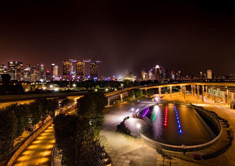 Night view at