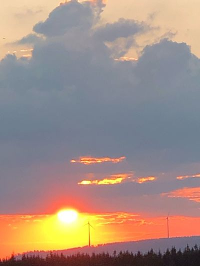Sunset Sky Cloud - Sky Beauty In Nature Orange Color Scenics - Nature The Great Outdoors - 2019 EyeEm Awards Nature Sun Silhouette Landscape Mountain