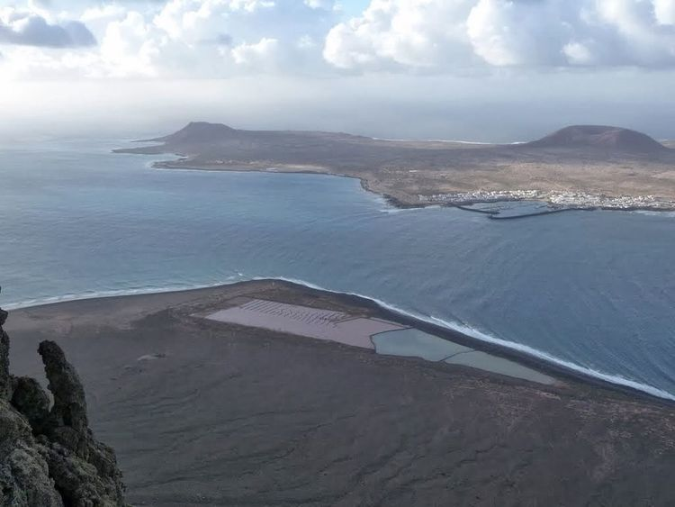 Mirador Del Río view to Graciosa island From Above  Beautiful View Sea View Landscape Travel Tourist Attraction  Beliebte Fotos Impressive, Striking, Spectacular, Breathtaking; Panoramic Canary Islands Round Trip Holiday POV The KIOMI CollectionLanzarote Collection Tourist Destination Impressive View Ladyphotographerofthemonth Contrasting Colors Turquoise Water Antracite Blue Grey White Blue The KIOMI Colllection Landscapes With WhiteWall Panoramic View Blue Sky White Clouds Shades Of Blue