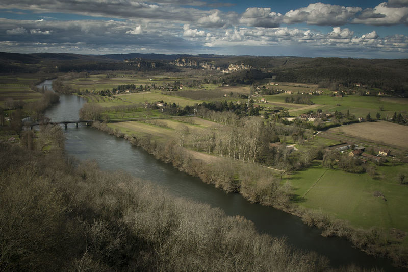 dordogne Agriculture Beauty In Nature Cloud - Sky Day Field Grass Landscape Nature No People Outdoors River Rural Scene Scenics Sky Tranquil Scene Tranquility Tree Water