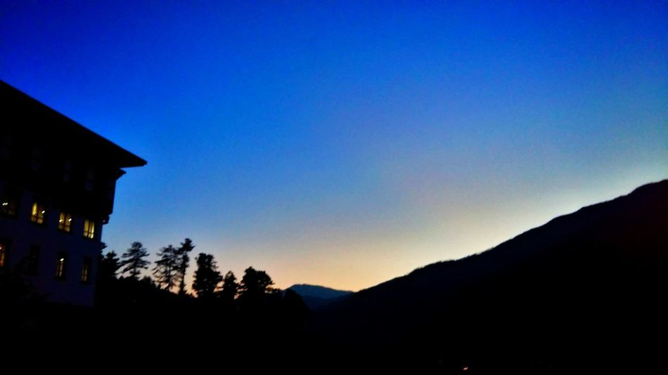Evening sky Bhutan Thimphu Mobilephotography Outdoors Silhouette