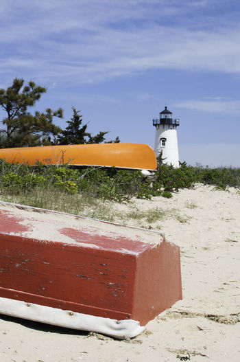 Martha's Vineyard Architecture Boats⛵️ Building Exterior Built Structure Day Island Islandlife Lighthouse Martha´s Vineyard Nature No People Outdoors Sand Sky Tree