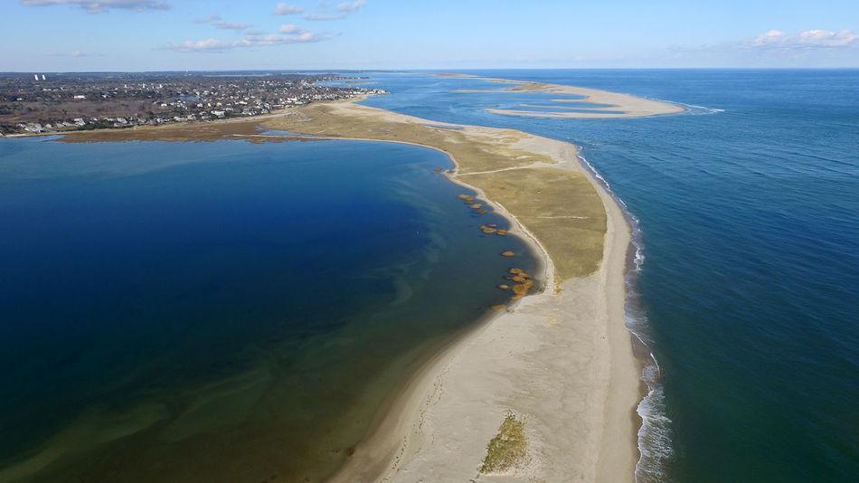 Chatham, Cape Cod Aerial South Beach Chatham Cape Cod Aerial Drone  Lighthouse Beach