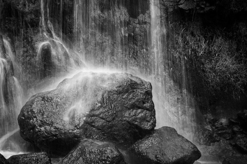 Beauty In Nature Blackandwhite Blurred Motion Falling Water Flowing Flowing Water Land Long Exposure Motion Nature Outdoors Power In Nature Purity Rock Rock - Object Rock Formation Scenics - Nature Solid Stream - Flowing Water Travel Destinations Water Waterfall