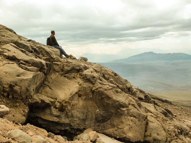 Adventure Boots Calm Desert Equipment Experience Gear Hardshell  Hiking Jacket Majestic Mountain Mountain View Mountains Rest Rocks Rucksack Softshellcrab Stones Travel Traveling View Cotopaxi Volcano