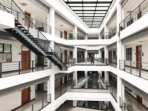 Architecture Staircase Railing Built Structure Steps And Staircases Steps Residential Building Wealth Window Luxury Modern Building Exterior Home Ownership Balcony No People Apartment Home Showcase Interior Day Indoors  Spiral Staircase
