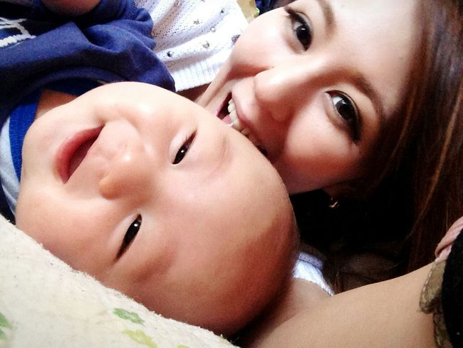 Enjoying Life Babyboy Baby Boy Hi! Mam&baby Happy Love Lol :) Smile 景登