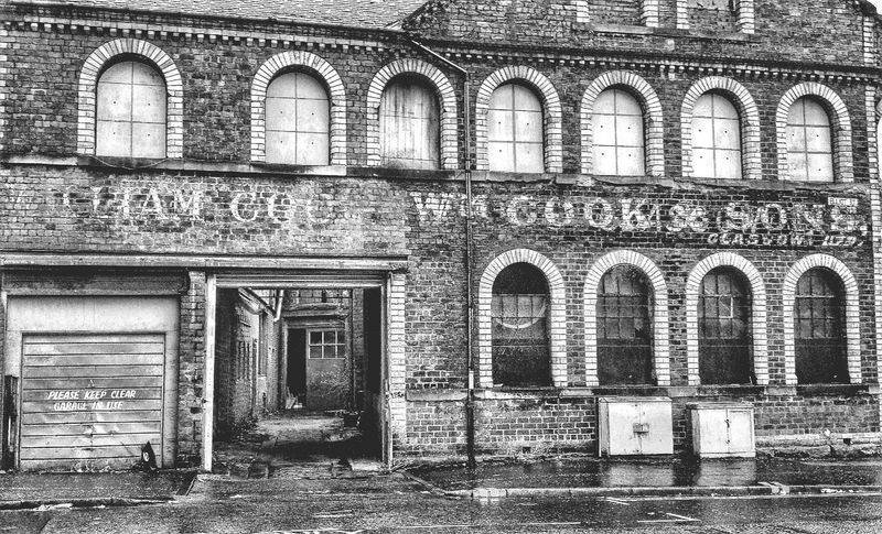Abandoned almost Old Buildings Ghost Signs  Monochrome