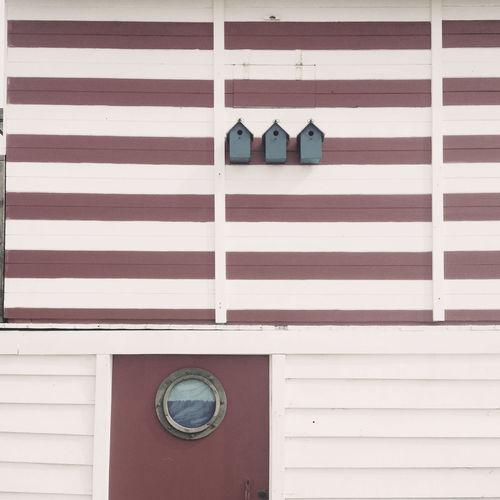 Birdhouses On Wall