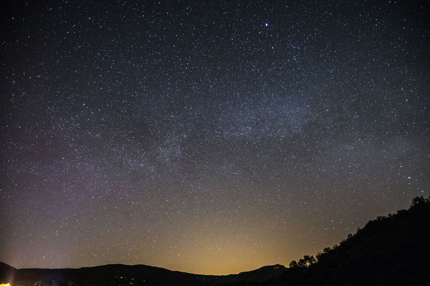 Cielo Lago Del Salto Lunga Esposizione Notturna Stelle  Via Lattea