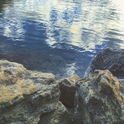 Beauty In Nature Close-up Day High Angle View Nature No People Outdoors Rock - Object Sea Tranquility Water