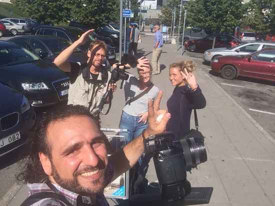 Film Filming Documentary Hej Sverige Stockholm Sweden Swedish Crew