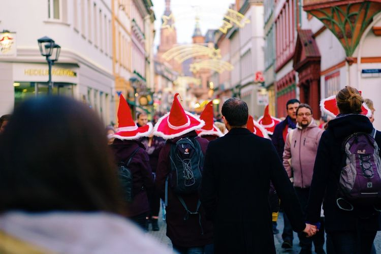 Christmas Around The World Christmas City Street Cultures Winter Large Group Of People City Life Streetphotography