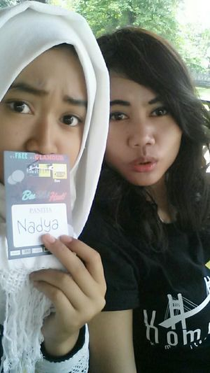 Hi! That's Me With My Sister  Selfie ✌ Cheese! Event komjembar Check This Out 😁😁😁