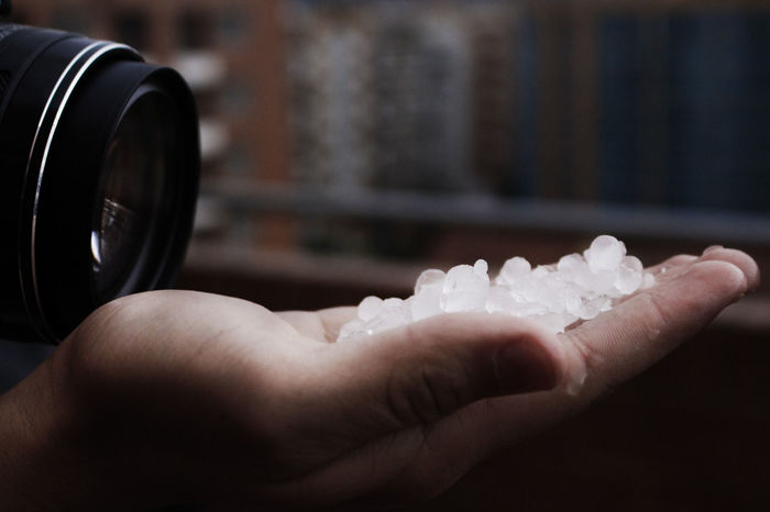 Close Up Close-up Day Hail  Holding Human Body Part Human Hand Ice Indoors  Nikon One Person People Photography Water
