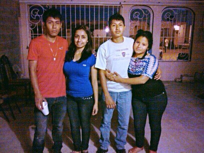 Con unos amigos :D