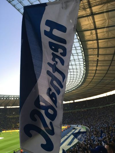 Berlin Blue And White Flag Hahohe Hertha BSC Olympiastadion Soccer
