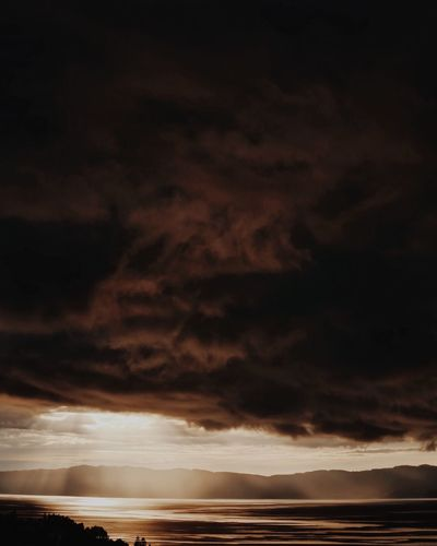 The Drama. Cloud - Sky Sky Scenics Dramatic Sky Nature Beauty In Nature Weather Tranquil Scene No People Sunset Storm Cloud Outdoors Landscape Night Power In Nature Norway Water Scandinavia