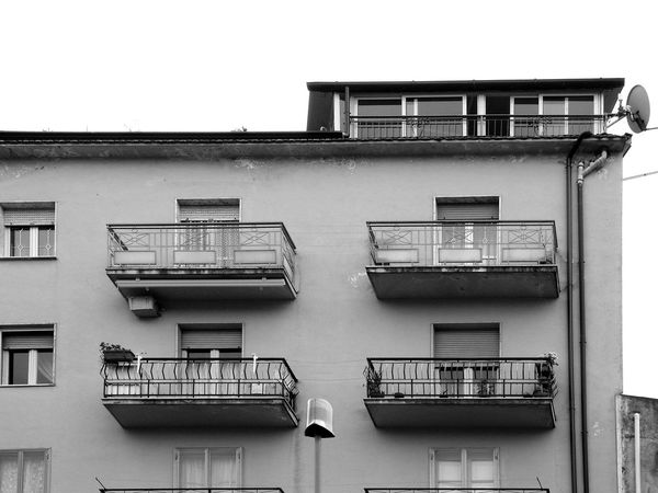 Building Black & White Italia South Italy Air Conditioner Architecture Balcony Black And White Black And White Photography Building Exterior Built Structure Calabria City Fire Escape Low Angle View Outdoors Residential Building Residential Structure Verbicaro Window