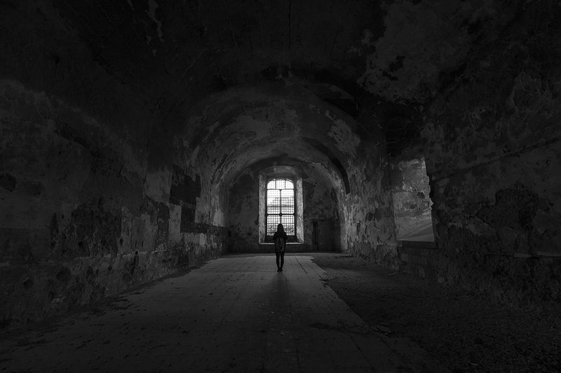 Cuore di Pietra. Architecture_collection B&w B&w Photo Blackandwhite Composition Dark Dark Photography Darkness And Light Italy Quiet Ruined Ruins Scary