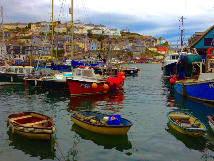 Mevagissey. Cornwall. UK. Taken with an iPhone. Mevagissey Cornwall Uk Harbour Boats IPhoneography