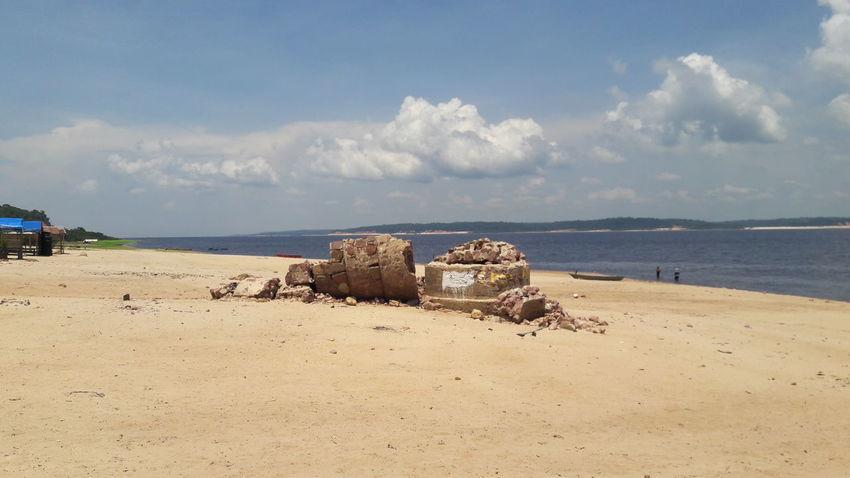 EyeEm Selects Beach Sand Sky Cloud - Sky Day Tranquility Nature Horizon Over Water Iranduba Amazonas-Brasil Paricatuba