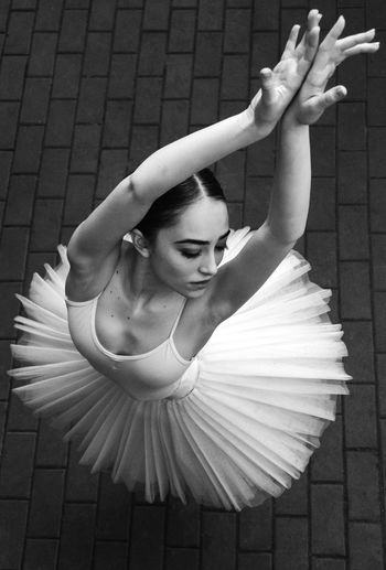 High Angle View Of Ballerina