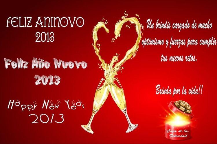 Que paséis un Feliz Fin de Año y todos mis mejores deseos para el 2013