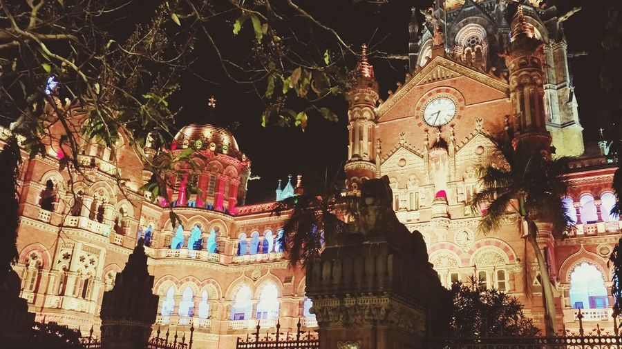 Night Illuminated Urbanexploration City Life Victoria Terminus Mumbai