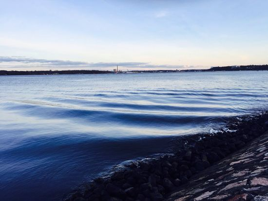 Kieler Förde Water Waves Light And Shadow IPhoneography Holtenau Eye4photography  Blue Sky