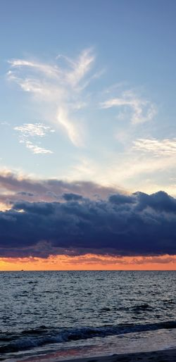 Water Sea Sunset Beach Blue Dramatic Sky Sky Horizon Over Water Cloud - Sky Landscape