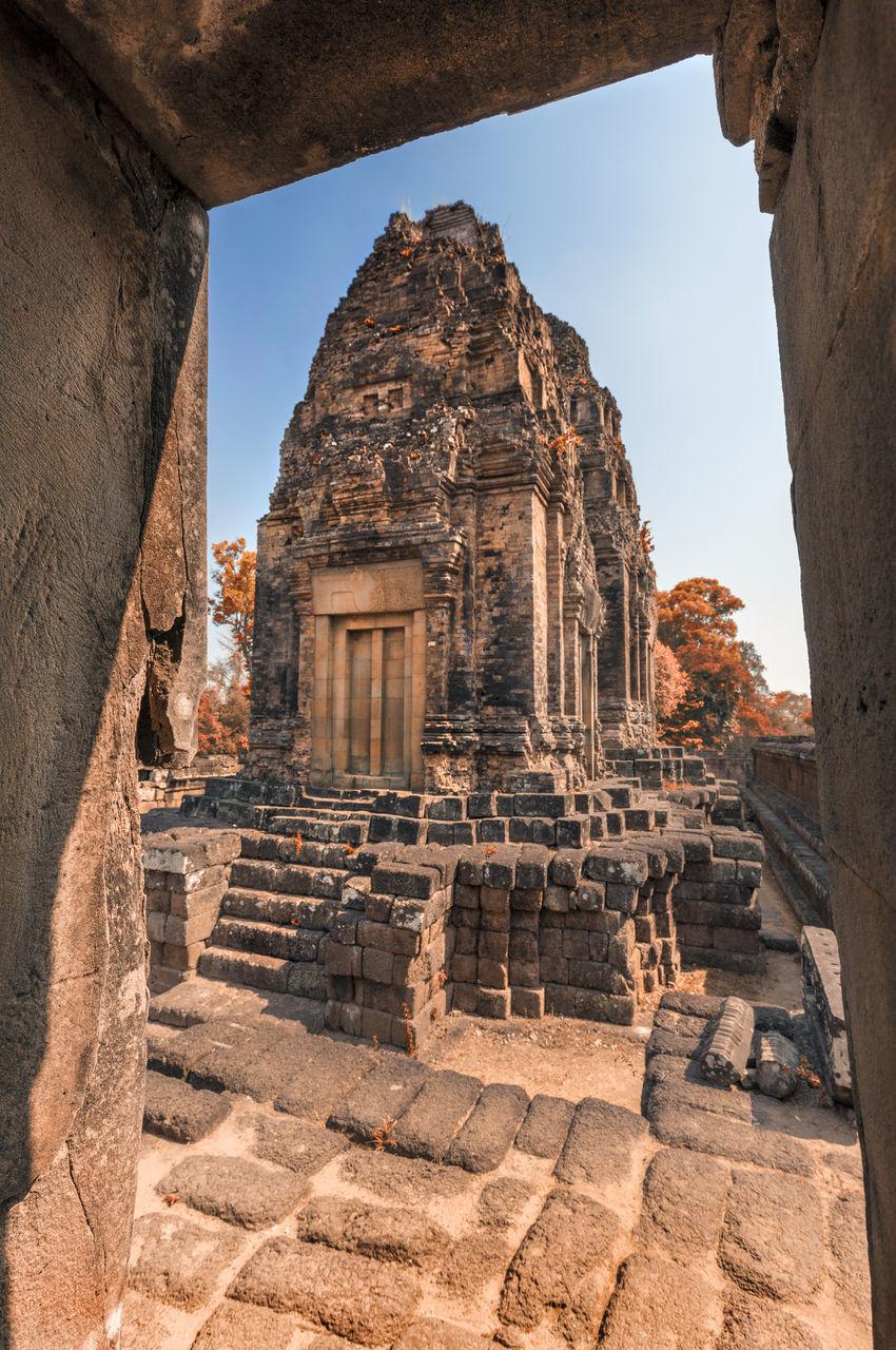 Historic Temple Against Clear Sky