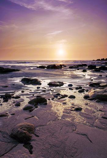 rocky beach at