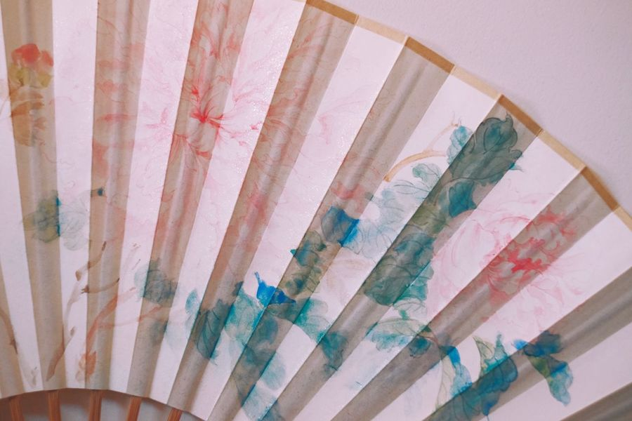 Folding Fan EyeEm Selects Multi Colored No People Pattern Indoors  Creativity Close-up Art And Craft Wall - Building Feature Textile Still Life High Angle View Backgrounds Built Structure Full Frame Curtain Architecture Floral Pattern Paint Textured