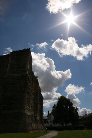 Architecture Beauty In Nature Cloud - Sky Day Landscape Lens Flare Nature No People Outdoors Remains Of Past Times Ruin Ruins Sky Sun Sunbeam Sunlight
