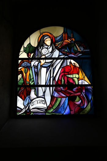 St. Severus in Boppard Stained Glass Glass Multi Colored Art And Craft Glass - Material Human Representation Window Creativity Indoors  No People