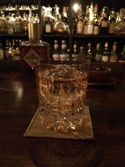 Bar Ontherocks Whiskey Counter Bottle Night Glass I.W.HARPER Alcohol