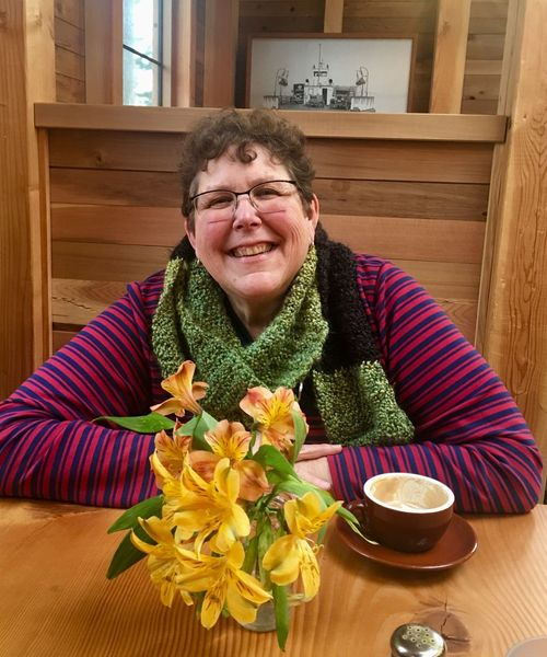 Whidbey Island Lilys Smiling Friend Portrait Of A Woman One Person Table Indoors  Flower Eyeglasses  Looking At Camera
