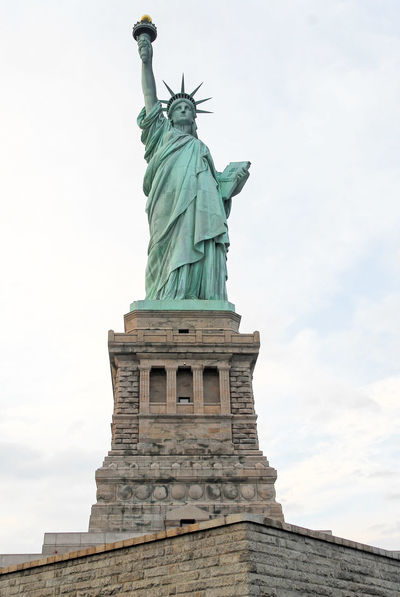 Statue of Liberty Crown Day Face Freedom Lady Landmark Monument New York No People NY NYC Outdoors Sculpture Sky Statue Statue Of Liberty USA