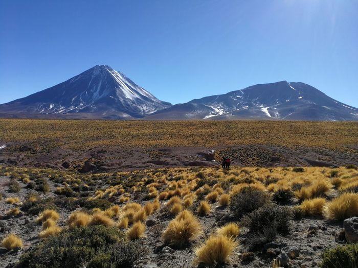 Volcan Lucancabur, paisaje salvaje en montaña EyeEm Selects Mountain Snow Volcanic Landscape Sky Landscape Mountain Range Natural Landmark Snowcapped Mountain Mountain Peak Majestic Physical Geography