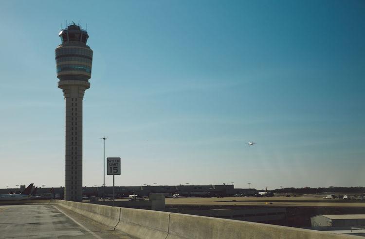 Airport Atlanta Ga Atlanta, Georgia Blue Sky City Road Spring Tower