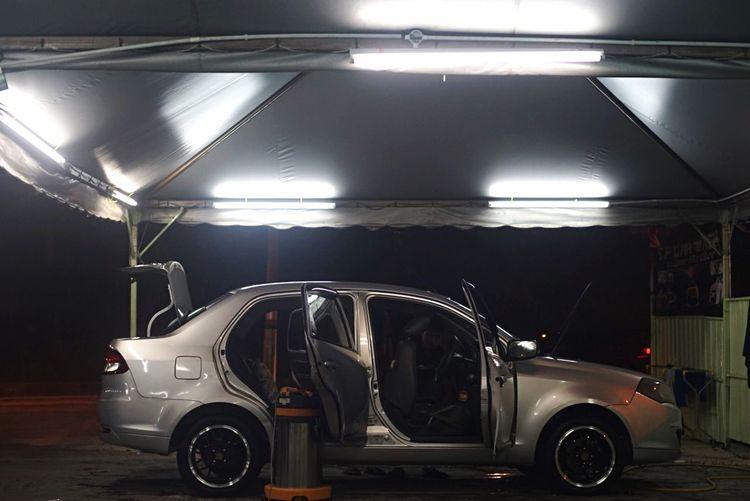 Car Transportation Mode Of Transport Land Vehicle Illuminated Parking Parking Lot Night Stationary No People Parking Garage Indoors