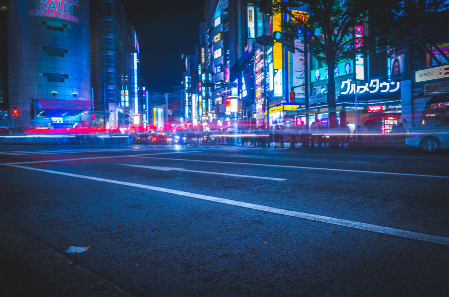 Cityscape Cyberpunk Futuristic Japan Lights Motion Blur Moving Shibuyascapes Tech The Creative - 2018 EyeEm Awards The Street Photographer - 2018 EyeEm Awards Tokyo Architecture Atmospheric Mood Blue Blur Blurred Motion Building Building Exterior Built Structure City City Life City Street Cityscape Illuminated Light Trail Long Exposure Mood Motion Neo Tokyo Neon Night Nightlife No People Office Building Exterior Outdoors Road Sign Skyscraper Speed Street Symbol Technology Transportation Urban HUAWEI Photo Award: After Dark
