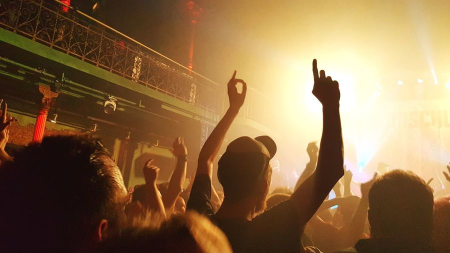 Crowd Music Popular Music Concert Audience Nightlife Music Festival Arts Culture And Entertainment Performing Arts Event Youth Culture Fun Arms Raised Stage - Performance Space Large Group Of People Stage Light Event Excitement Celebration Spectator Performance Group Performance
