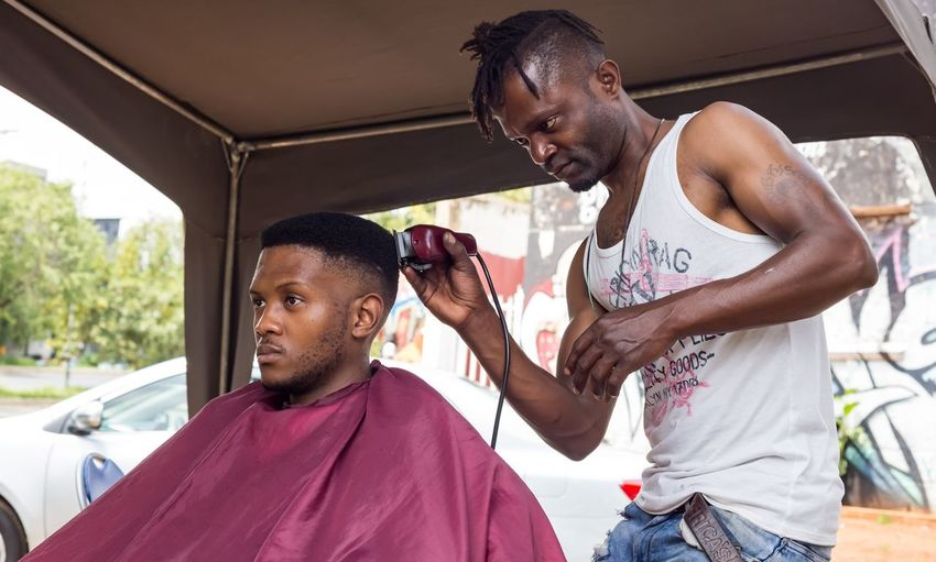 Haircut on the