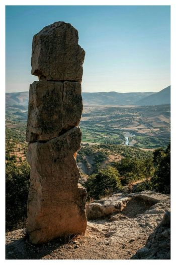 the largest Greek rock inscription in Anatolia Colour Travel Photography Landscape at Arsameia , Adiyaman in Turkey