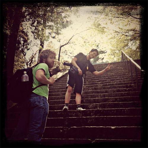 The last stairs up to Enrakuji. Hiking Golden Week