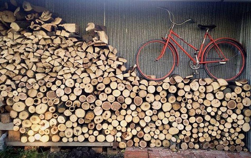 🌳🌲🚲 Wood Forheating Bike Retro Goodidea Parking Slot StillLife Nature Trees Letsride Bicycle Oldschool Bicykel Drevo Zatisie Zatisie WOW